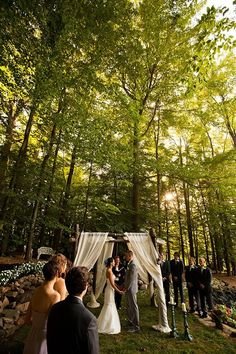 Intimate backyard wedding. Why don't I know anyone with a backyard like this?