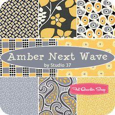 Amber Next Wave Fat Quarter Bundle Studio 37 for Marcus Brothers Fabrics - Fat Quarter Shop