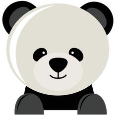 Panda Bear SVG fiel for scrapbooking panda bear svg cut file for cutting machines cute svg cuts