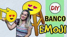 DIY: Banco Emoji | Presente Dia dos Namorados #1 Fácil e Barato por Cois...