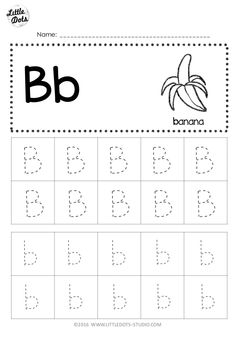 Free letter b tracing worksheets little dots education preschool printables and activ Preschool Letter B, Letter B Activities, Preschool Writing, Preschool Learning, Learning Skills, Early Learning, Preschool Themes, Life Skills, Alphabet Tracing Worksheets