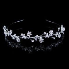 Lovely Flower Leaf Crystal Wedding Bridal Bridesmaid Prom Party Tiara Headband | eBay