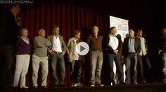 """VfL-Legenden wie Schafstall, Gerland, Lameck und Co. beim Dokufilm """"Spielerfrauen"""" von 1985 im Union Kino Bochum anlässlich des 11mm-Fußballfilmfestivals."""