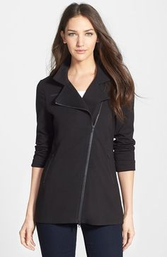Eileen Fisher Long Knit Moto Jacket (Regular & Petite) available at #Nordstrom