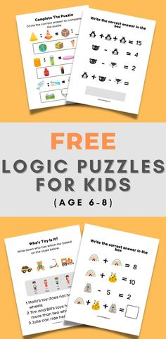 FREE Logic Puzzles For Kids (Age 6-8)