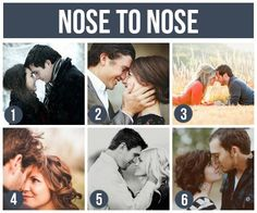 Nose to Nose engagement photo shoot couple poses