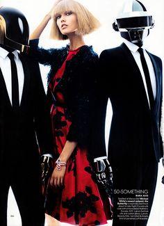 Karlie Kloss + Daft Punk for US Vogue #daftpunk