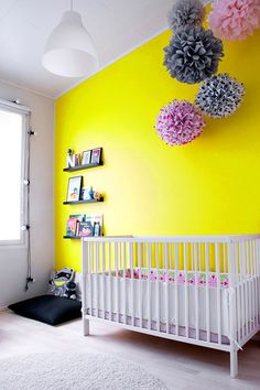 bright and bold yellow nursery