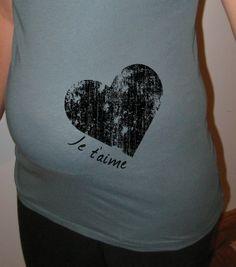 Maternity Shirt  I Love You Organic Maternity by ecomaternity, $20.00