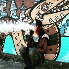 Vaping By Viking Street Art [Outfit]