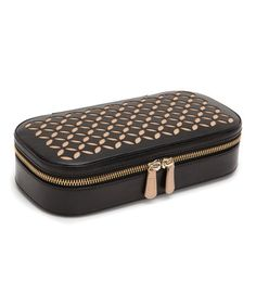 Loving this Black Chloé Zip Leather Jewelry Case on #zulily! #zulilyfinds