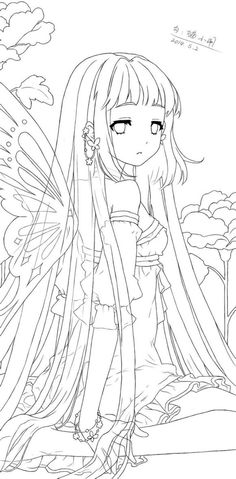 Marvelous Learn To Draw Manga Ideas. Exquisite Learn To Draw Manga Ideas. Anime Drawings Sketches, Anime Sketch, Easy Drawings, Cute Coloring Pages, Adult Coloring Pages, Coloring Books, Manga Coloring Book, Lineart Anime, Anime Chibi