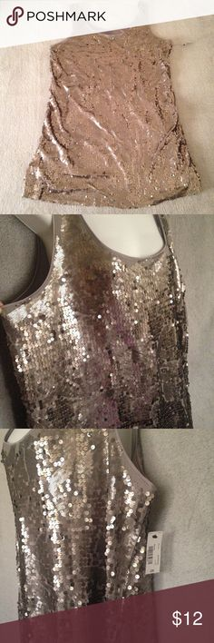 Silver Sequined Dress NWT midi silver sequined dress is perfect for a girls night out! 🎶🍹 Worthington Dresses Midi