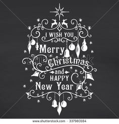 I wish you a Merry Christmas lettering on chalkboard background. Vector illustration I wish you a Merry Christmas lettering on chalkboard background. Christmas Design, Christmas Colors, All Things Christmas, Christmas Diy, Christmas Decorations, Xmas, Happy New Year Text, Chalk Wall, Chalkboard Background