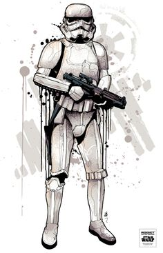 All new Star Wars / Addict clothing illustrations by Mitchy Bwoy, via Behance