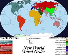 New World Moral Order Map by Iori-Komei - the above map is a remastering of the original 'Outline of the Post-War New World Map' created by one Maurice Gomberg in early 1942.