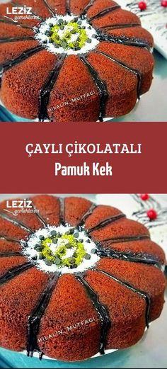 Çaylı Çikolatalı Pamuk Kek