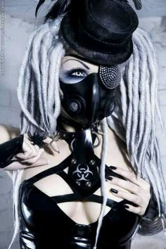 White & Black #CyberGothGirl #CyberGoth