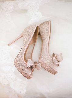 Valentino lace peep-toe pumps | The Wedding Scoop Spotlight: Bridal Shoes - Part 2