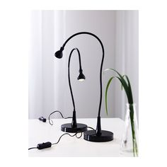 JANSJÖ LED work lamp IKEA Uses LEDs, which consumes up to 80% less energy and last 20 times longer than incandescent bulbs.