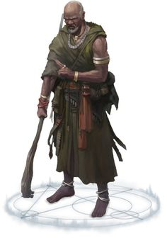 stirringsagacity:  Old-Mage Jatembe by Yuriy Georgiev  Old-Mage Jatembe founded the Magaambya, the first school of magical learning on Golarion after the destruction of the ancient Azlanti and Thassilonian empires. He and his Ten Magic Warriors fought to maintain the culture and knowledge of the Mwangi people in the Age of Anguish, going to any lengths to benefit their people.