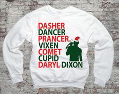 Reindeer Names Daryl Dixon Christmas TWD  Daryl Dixon  by topclick, $28.00 : Merry Christmas to myself! I just had to have it!!