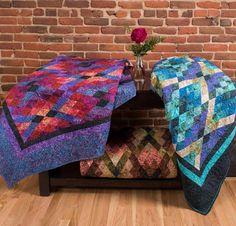 Argyll Quilt Kit by Jinny Beyer featuring RJR Jinny Beyer Malam Batiks Fabric | Craftsy