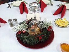 Table setting for the Vileja (Slovak Christmas Eve dinner) Dinner held @ St. John the Baptist Slovak Church, Campbell, OH