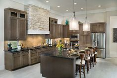 The Carmel Model Home Exterior & Interior Decorating (1242) - contemporary - Kitchen - Tampa - Arthur Rutenberg Homes
