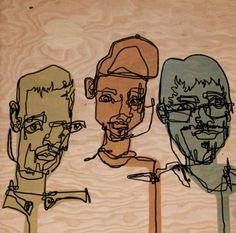 custom blind contour drawing portrait by Pigment Plus Surface