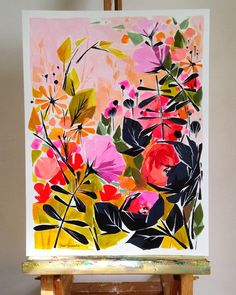 ur email for an invoice. Oil Painting Abstract, Watercolor Paintings, Painting Inspiration, Art Inspo, Abstract Flowers, Art Plastique, Oeuvre D'art, Flower Art, Art Projects