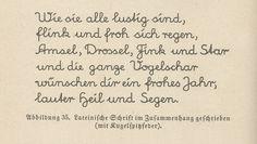 Lateinisches Alphabet, Text mit Kugelspitzfeder  Schriftprobe mit Kugelspitzfeder in lateinischer Schrift   Sütterlin, Schriftprobe (lateinisch) - Sütterlinschrift – Wikipedia