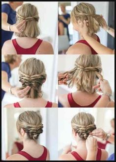 wedding hairstyles easy hairstyles hairstyles for school hairstyles diy hairstyles for round faces p Short Hair Styles For Round Faces, Cute Hairstyles For Short Hair, Hairstyles For Round Faces, Diy Hairstyles, Short Hair Cuts, Medium Hair Styles, Curly Hair Styles, Simple Hairstyles, Hairstyle Ideas