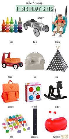 The Best Of: First Birthday Gifts For The Modern Baby — Momma Society Best First Birthday Gifts, Best Baby Gifts, Birthday Gifts For Boys, Baby First Birthday, Baby Girl Gifts, First Birthdays, Birthday Parties, 40th Birthday, Birthday Ideas
