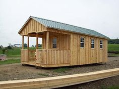 10 x 20 Cabin with End Porch and extra windows