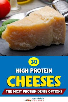 Which cheese offers the highest protein content? Here are 30 high-protein cheese options #cheese #protein #nutrition