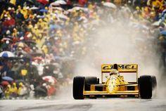 Nelson Piquet na Lotus em 1989.