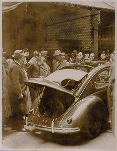 1938 Volkswagen ~ KdF-Wagen Prototype with sunroof Van Vw, Kdf Wagen, Vw Vintage, Bugs, Ferdinand Porsche, Best Classic Cars, Vw Cars, Vw Beetles, Classic Cars