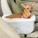Snoozer Console Pet Car Seat  Small Grey