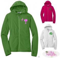 This super soft microfleece hoodie will add extra warmth to her early morning walks   www.thepinkmonogram.com