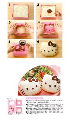 Adventures of Bento Cat: Bento Accessories - Hello Kitty Sandwich Cutter review