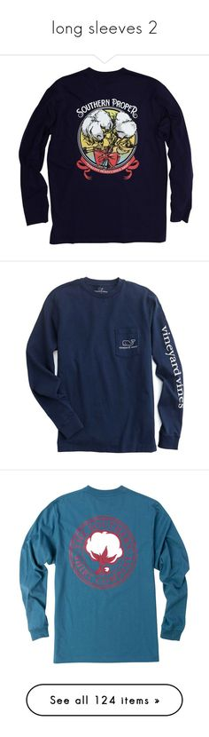 """""""long sleeves 2"""" by katie-1111 ❤ liked on Polyvore featuring men's fashion, men's clothing, men's shirts, men's t-shirts, shirts, long sleeves, tops, navy, mens long sleeve shirts and mens preppy t shirts"""