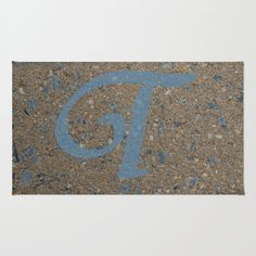 """T Monogram"" 2'x3' Area & Throw Rug by Celeste Sheffey of Khoncepts - $28.00  machine washable."