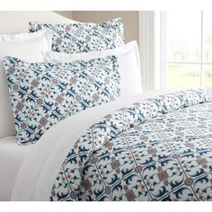 Pottery Barn Lyon Tile Organic Duvet & Sham (€21) ❤ liked on Polyvore featuring home, bed & bath, bedding, bed accessories, pottery barn bedding, pottery barn, colorful bedding, patterned bedding and organic bedding