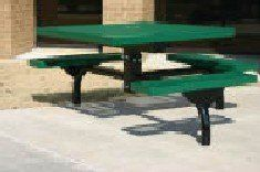"""Webcoat T36PED-3S 36 in. Square Table- 3 Seats - Inground Mount by Webcoat. $1296.00. Mounting Hardware for Inground Mounts (Not included).. 4 Pedestal.. 3/4 9 Expanded Metal.. We recommend 3/8 x 3 Red Head Anchor Bolts for most applications.. 3 Seats.. For all food court ares inside and out, Webcoat's Canteen Style will fill the need. 3/4"""" 9 Expanded Metal. 3 Seats. 4"""" Pedestal. Mounting Hardware for Inground Mounts (Not included). We recommend 3/8"""" x 3"""" Red Hea..."""
