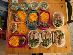 Student meal prep! Rosemary and thyme chicken with a sweet potato mash pork fillet with a parsley tabbouleh and some small kale salads with apple and sunflower seeds. #mealprepping #OneSimpleChange #mealprep #healthy #mealplanning #healthyliving #food #weightloss #sunday