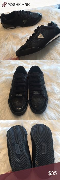 Black Guess sneakers, size 9.5 Black Guess sneakers, size 9.5 Guess Shoes Sneakers