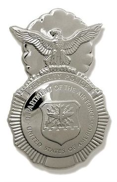 my hubbie's law enforcement badge (for the military)