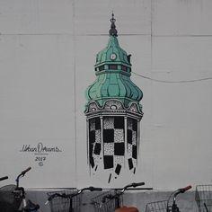 Final pics of my wallpainting in Copenhagen last month... #mural #illustration #wallpainting #urbandreams #byenshegn #copenhagen #kongensnytorv