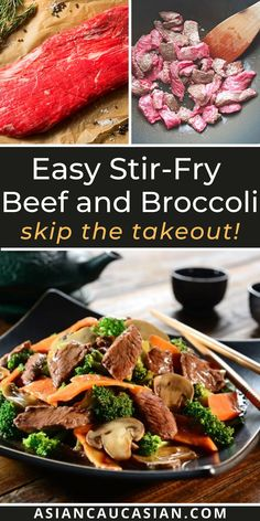 This classic Stir-Fry Beef and Broccoli is so easy to prep and cook! And, for all of you steak and broccoli lovers, the flavor is outstanding! No need to order Chinese take-out when you can make this at home in just 30 minutes! Perfect for busy weeknights, this easy Asian dinner recipe is so hearty and incredibly flavorful. #chineserecipes #easyasianrecipe Healthy Asian Recipes, Asian Dinner Recipes, Easy Stir Fry, Beef Stir Fry, Beef And Brocolli, Fried Beef, Air Fryer Recipes Easy, One Pot Meals, Copycat